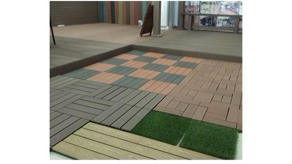 塑木压花地板防滑防腐,使用更舒适