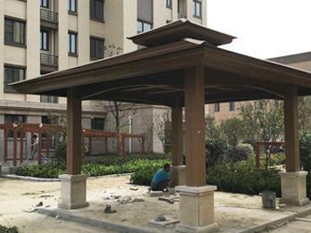 林可塑木得到竹西芳庭小区的一致认可!